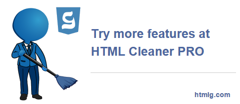 HTML Cleaner Online Toolkit
